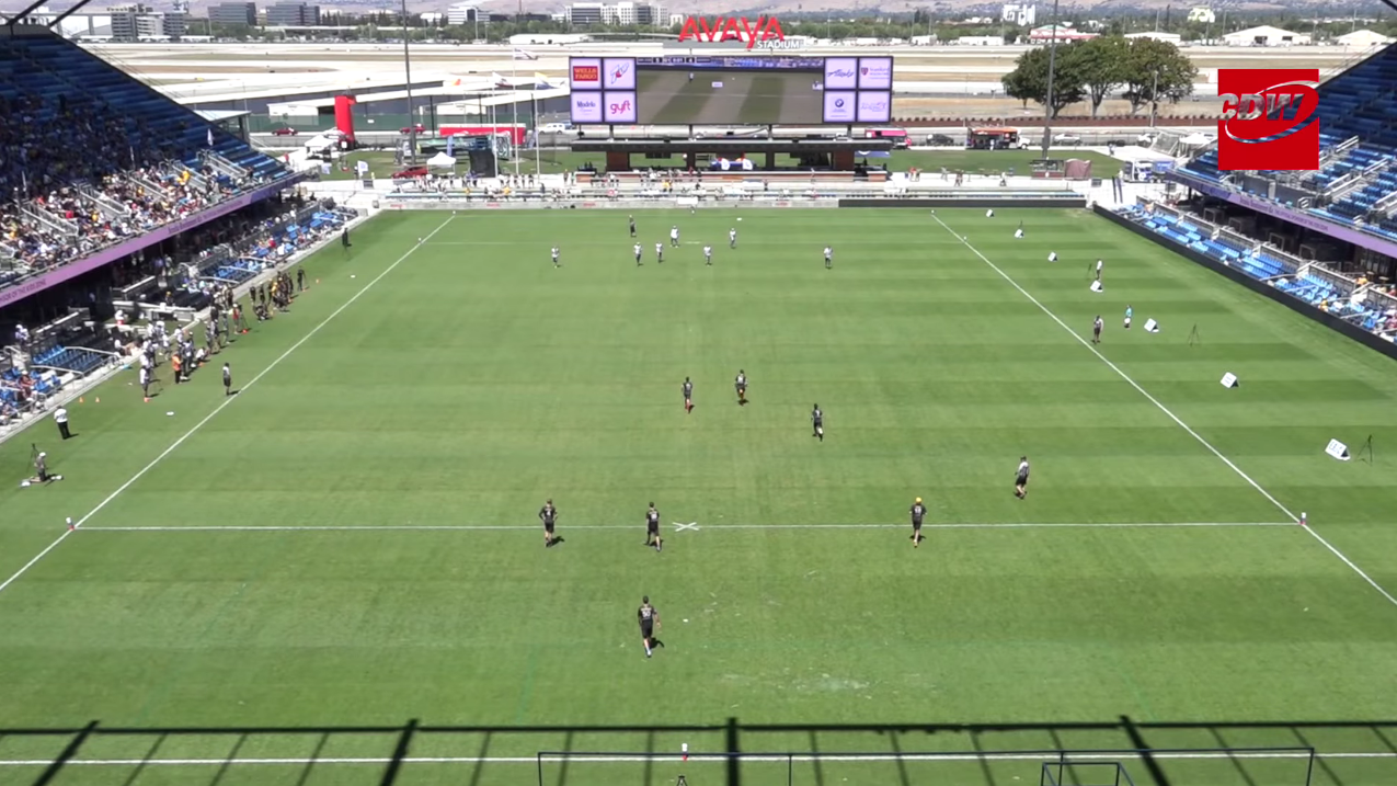 A bird's eye view of the stadium.