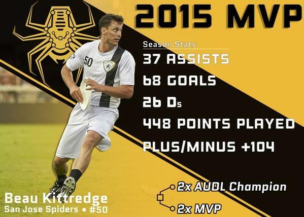 Beau Kittredge - 2015 AUDL MVP