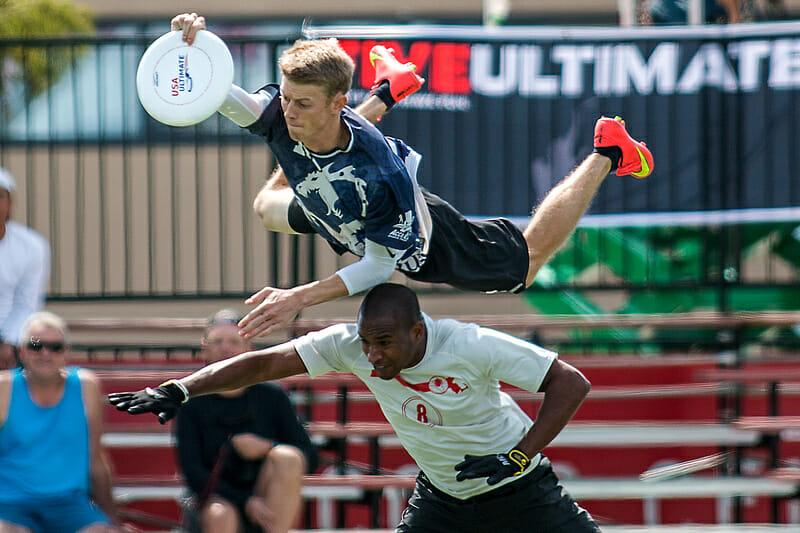 "Drag'N Thrust's Brian ""Strings"" Schoenrock. Photo: Daniel Thai -- UltiPhotos.com"