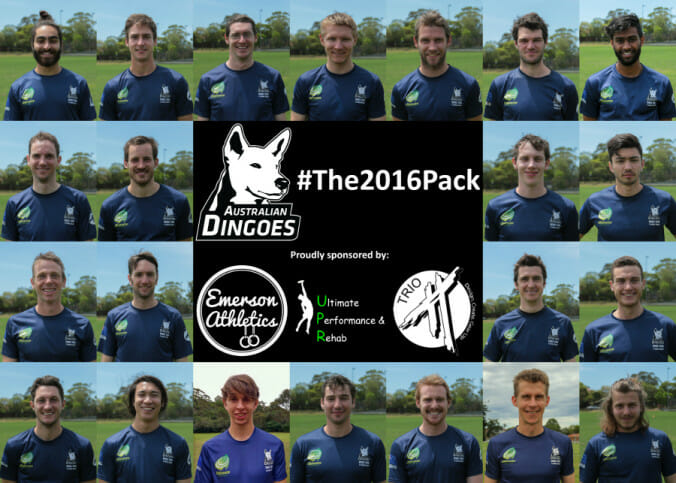 Australian Dingoes Ultimate 2016.