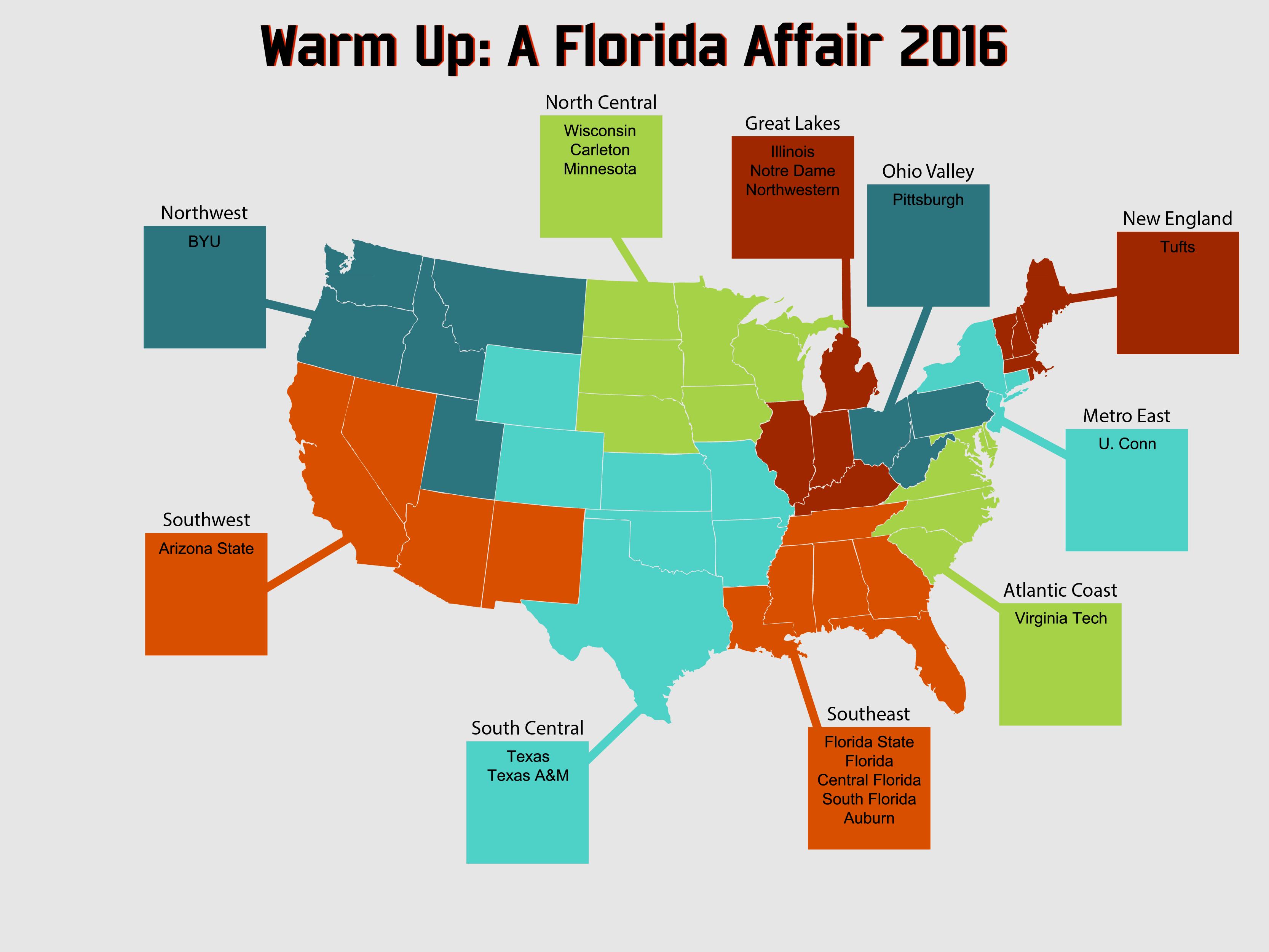 Warm Up 2016 Team Map
