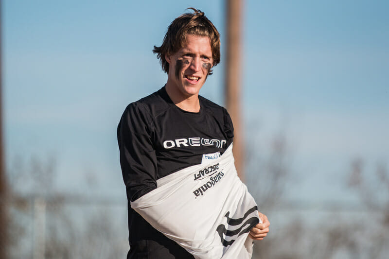 Dylan Freechild at the Roughnecks' combine. Photo: Daniel Thai -- UltiPhotos.com