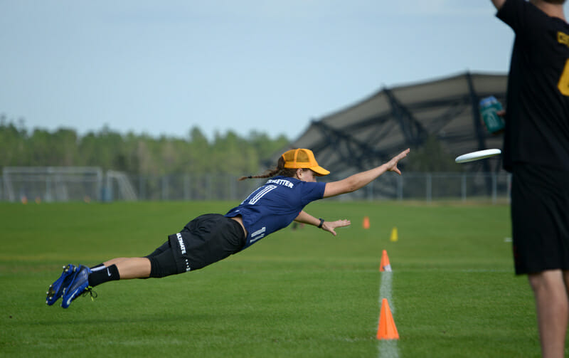 Janina Freystaetter made big plays all weekend for the UCF Sirens. Photo: Billy Dzwonkowski -- UltiPhotos.com