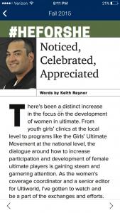 Ultiworld's own Keith Raynor, writing for USA Ultimate Magazine.