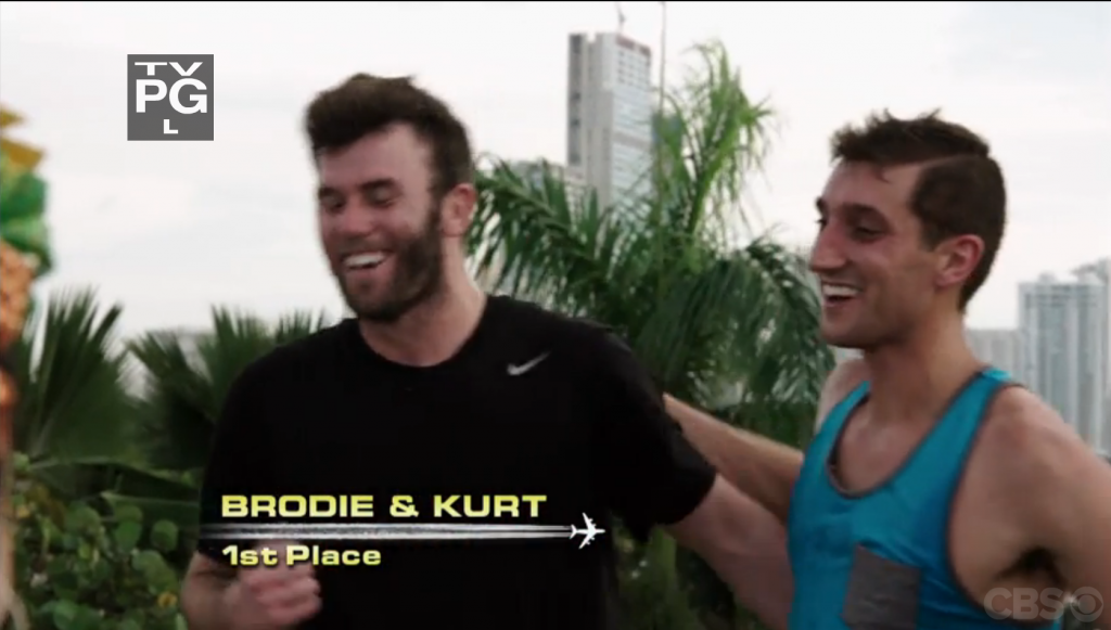 Brodie & Kurt take first place on The Amazing Race