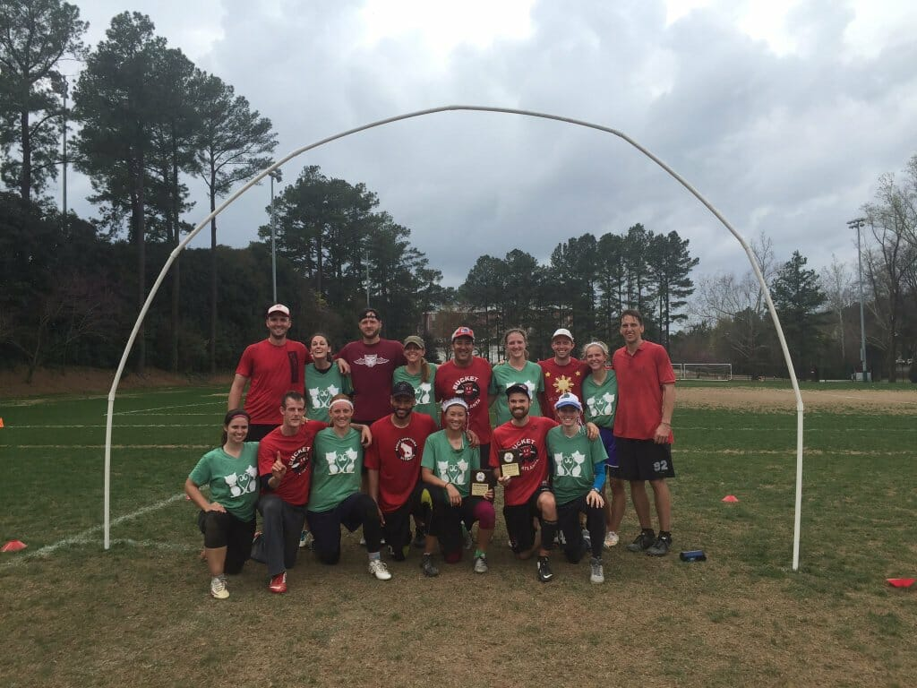 Carolina Goaltimate Championship men's and women's champions. Photo: USA Goaltimate.