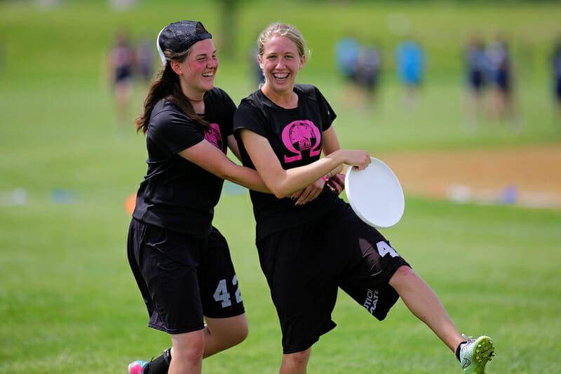 Holy Family Catholic at the 2015 HS Central Championships. Photo: Alex Fraser -- UltiPhotos.com