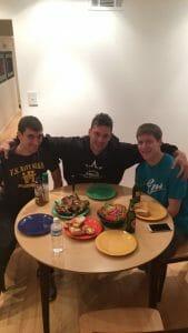 Roughnecks HQ's first family dinner. Photo: @livelaughlime on Twitter.