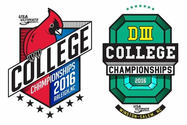 2016 USA Ultimate College Championships Logos