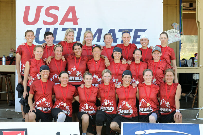 The Capitals were silver medalists at the 2010 USAU Club Championships. Photo: Kevin Leclaire -- UltiPhotos.com