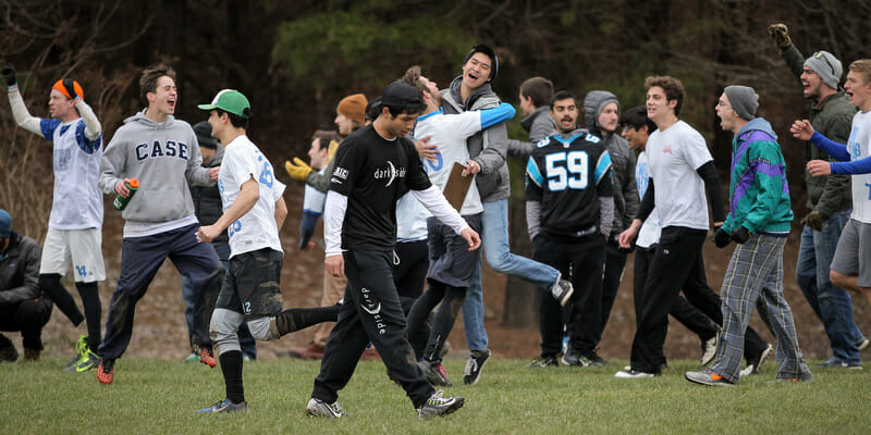 "After playing UNC close at QCTU this spring, Case Western will be more just ""happy to be there."" Photo: Christina Schmidt -- UltiPhotos.com"