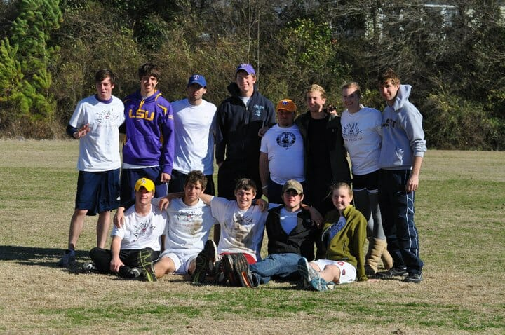 The LSU B Team in Smith and Lutz' freshman year.