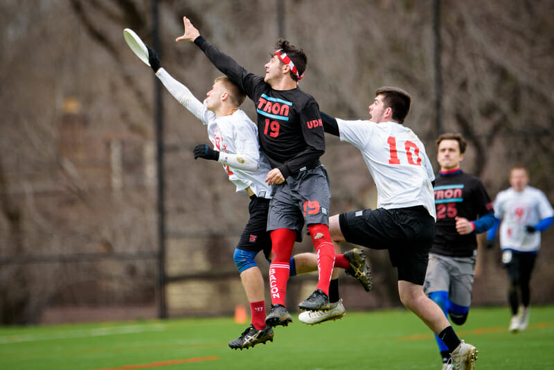 Brandeis and Richmond clashed at Layout Pigout in March. Photo: Paul Andris -- UltiPhotos.com