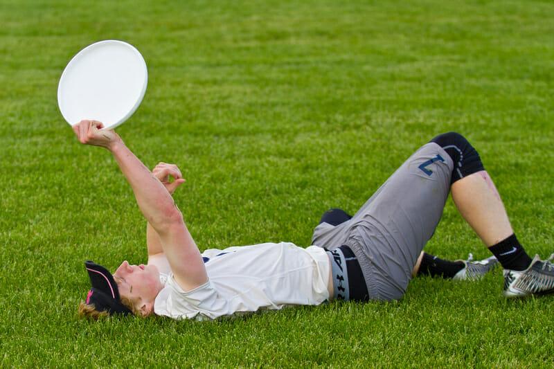 Neuqua Valley's Ben Swiatek celebrates after making the tournament-winning catch. Photo: Nick Lindeke --UltiPhotos.com