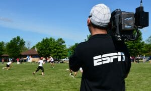 ESPN has been a presence at USAU events for the past three years. Photo: Brian Canniff -- UltiPhotos.com