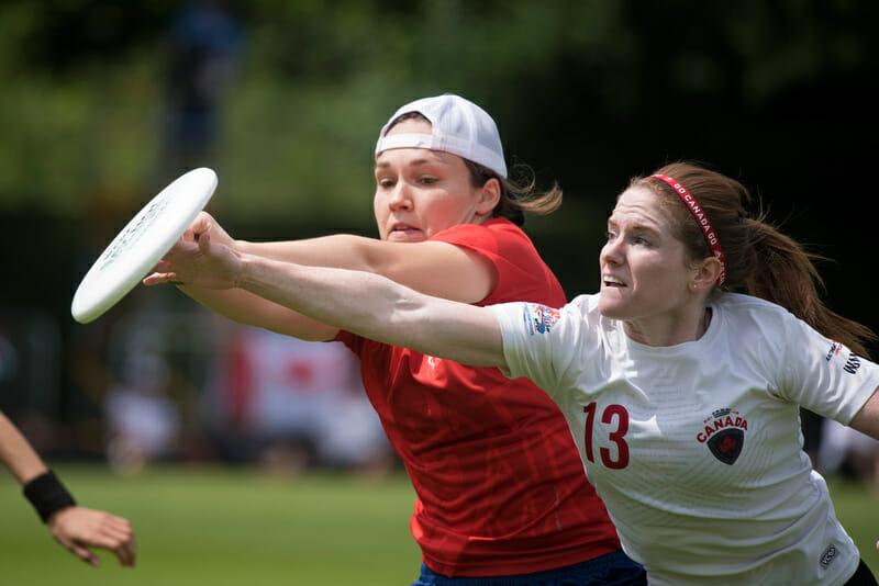 Canada v. Great Britain. Photo: Jolie Lang -- UltiPhotos.com