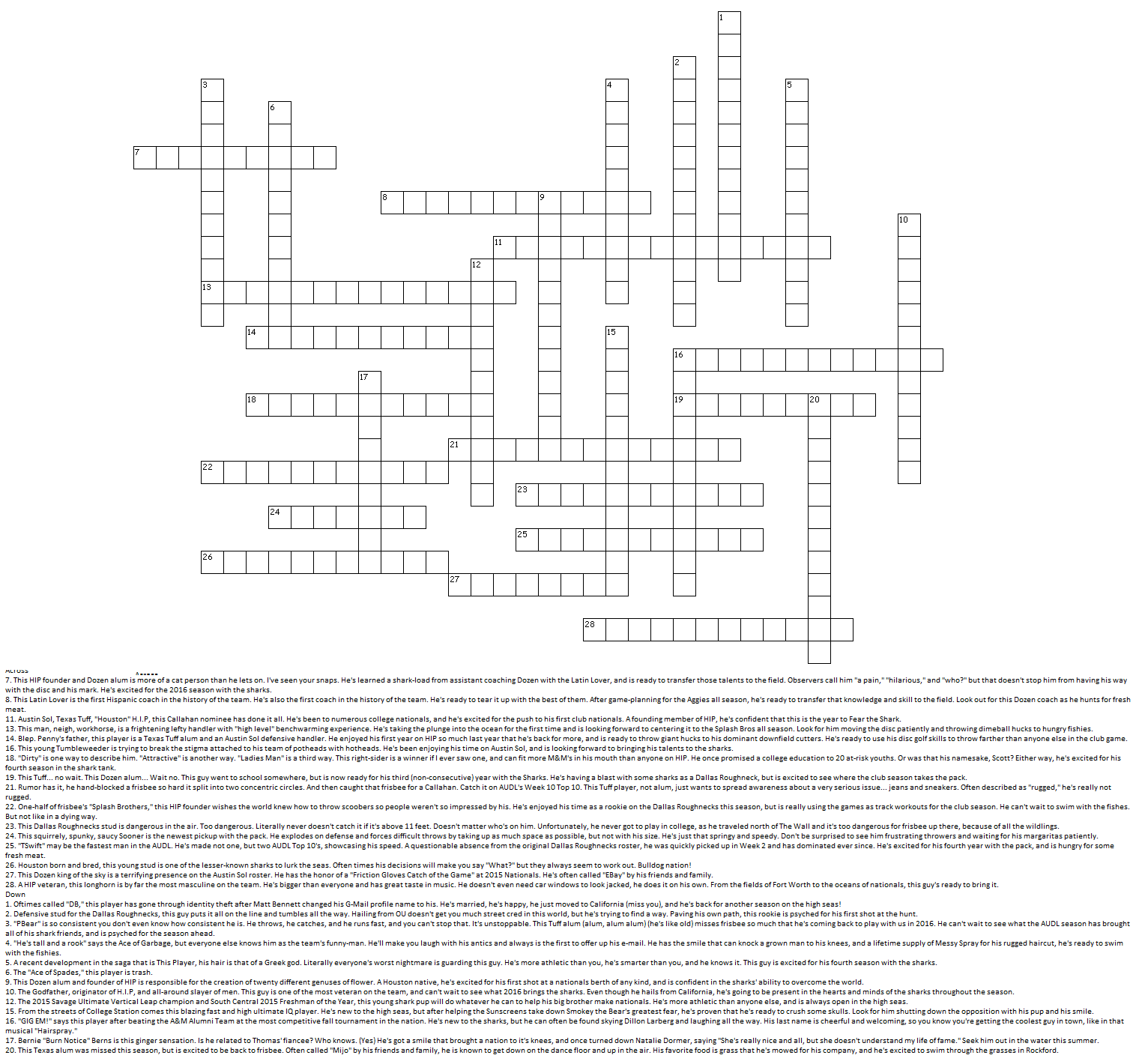 Houston HIP Crossword