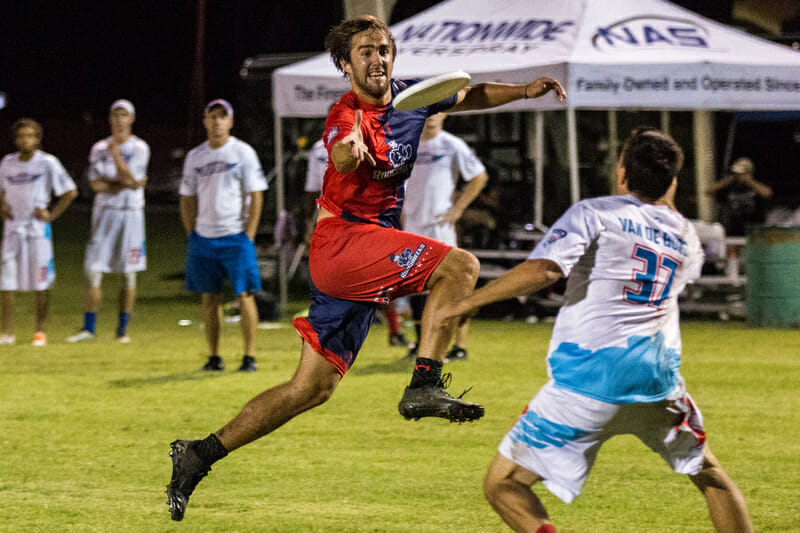 Jimmy Mickle has been playing at an MVP level for the Roughnecks this season. Photo: Daniel Thai -- UltiPhotos.com