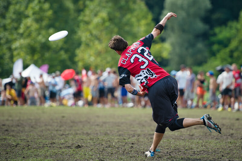 Clapham at WUCC 2014. Photo: Kevin Leclaire -- UltiPhotos.com