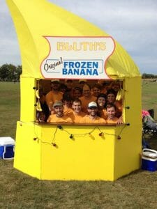 No Touching has a frozen banana stand that we are sure to see in Rockford.