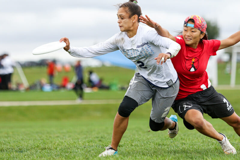 Steamboat's Nancy Haskell at the 2016 Club Championships. Photo: Paul Rutherford -- UltiPhotos.com