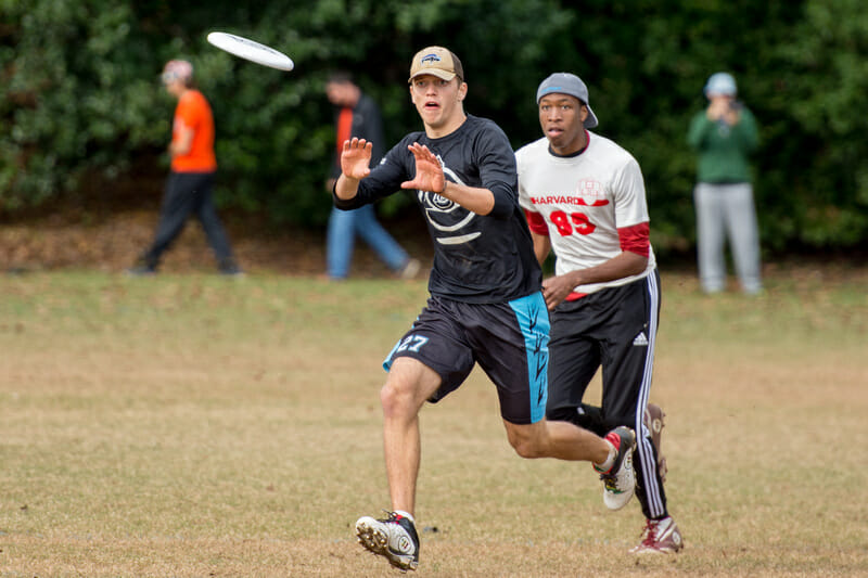 UMass' Tannor Johnson at last year's CCC vs Harvard. Photo: Terry Nelson -- UltiPhotos.com