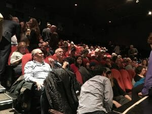 The audience at Flatball's NYC premiere.