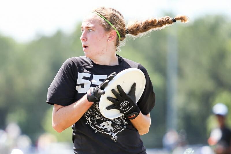 Julianna Werffeli, one of Dartmouth's Big Three, will be aiming to lead Princess Layout to a season-opening tournament win in Florida. Photo: Paul Rutherford -- UltiPhotos.com