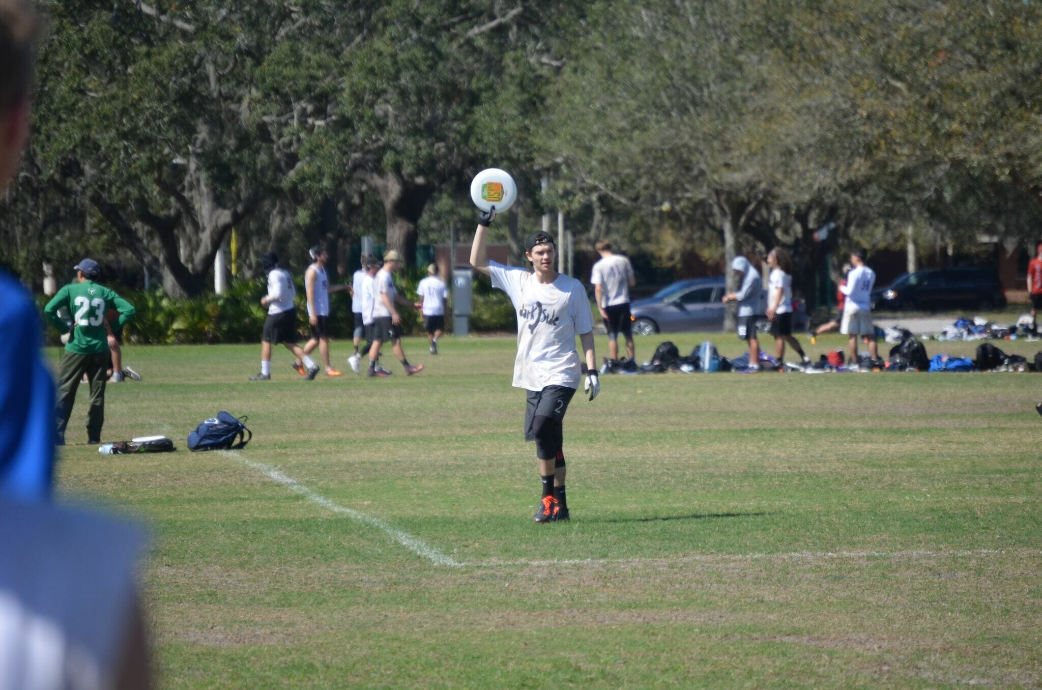 Carleton's Sol Yanuck signals he's ready to pull at the 2018 Florida Warm Up.