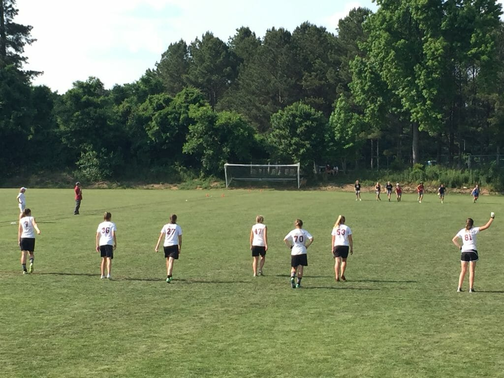 Peak signals to receive from East Chapel Hill at Paideia Cup 2018.