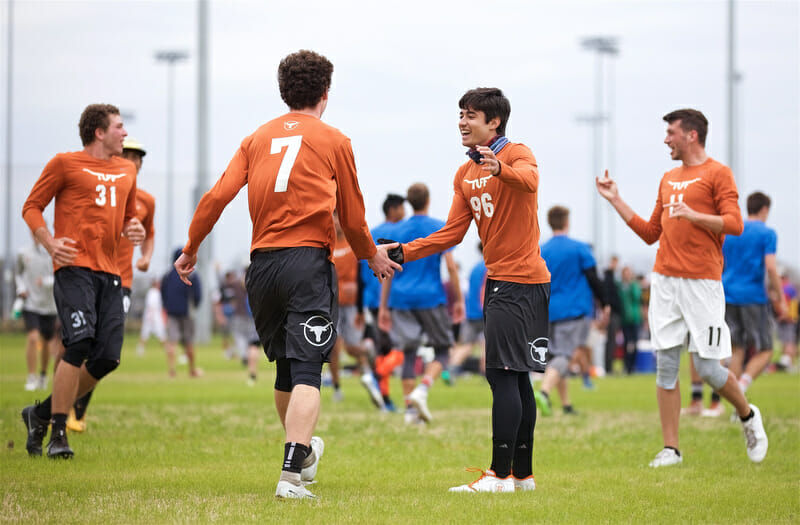 Texas in the quarterfinals of Men's Centex 2018.