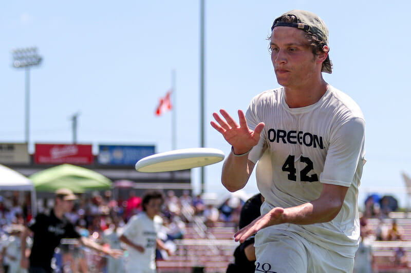 Oregon's Will Lohre. Photo: Paul Rutherford -- UltiPhotos.com