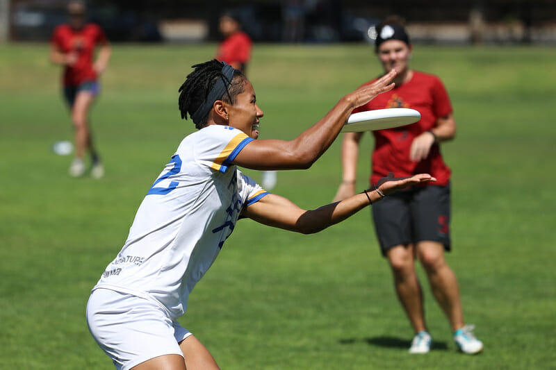 Fury's Opi Payne collects a goal against Riot at the 2018 Bay Area Invite.
