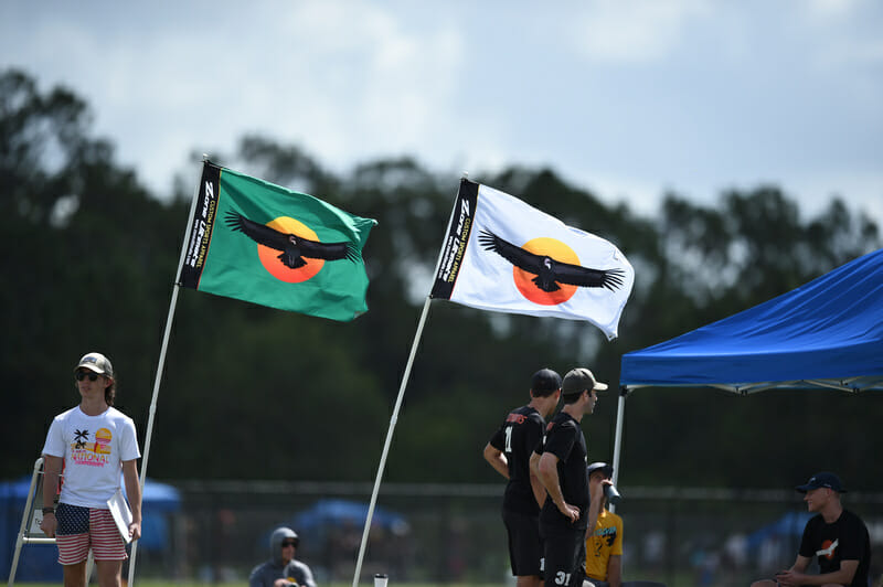 Two flags of SoCal Condors at the 2017 Club Championships.