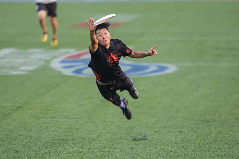 Ring of Fire's Allan Laviolette makes a spectacular grab in the semifinals of the 2018 Pro Championships.