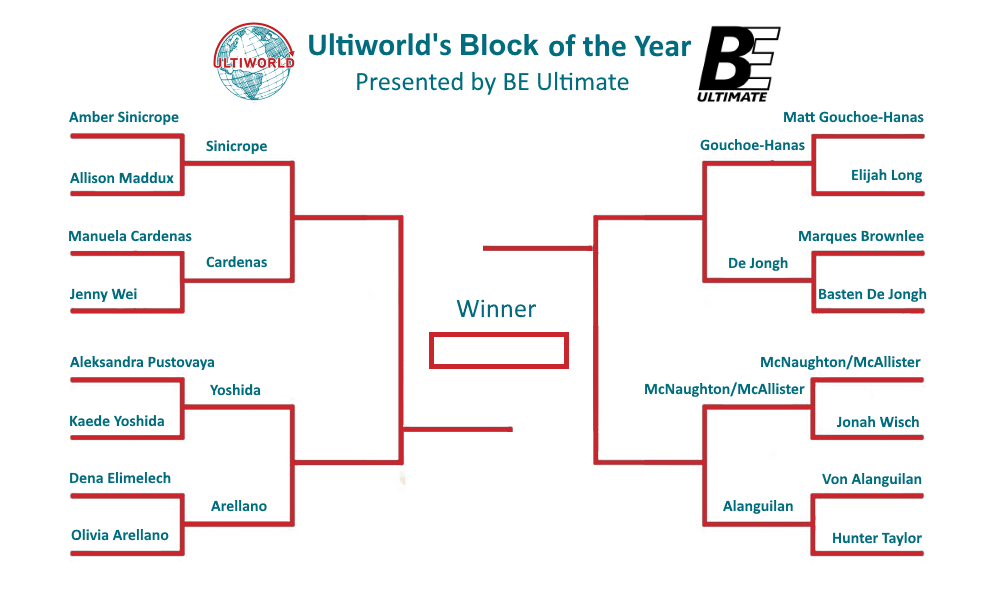 Ultiworld's 2018 Block Of The Year cket: Round 2 ... on