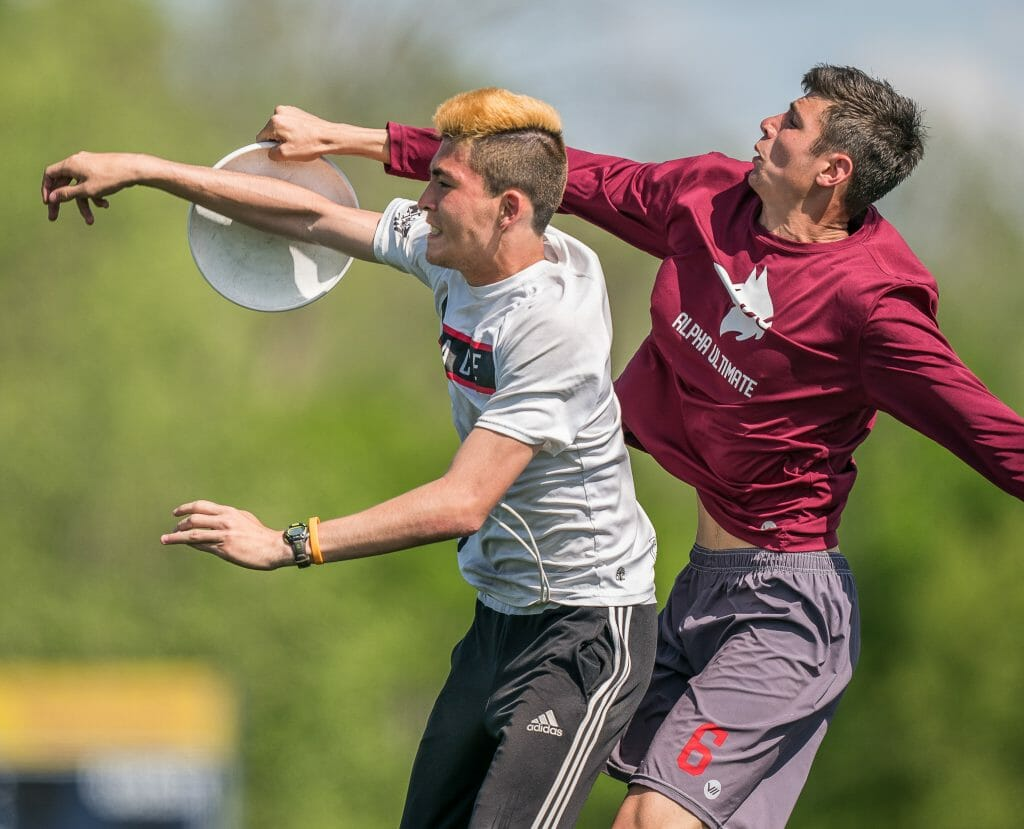 NC State's Matt Tucker makes a catch against Maryland at Atlantic Coast D-I Men's Regionals 2019.