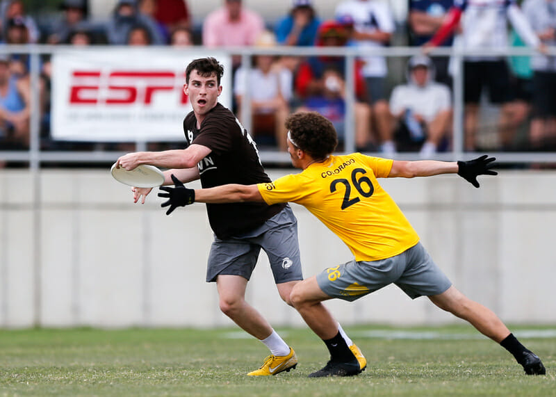Brown's Solomon Rueschemeyer-Bailey. Photo: William 'Brody' Brotman -- UltiPhotos.com