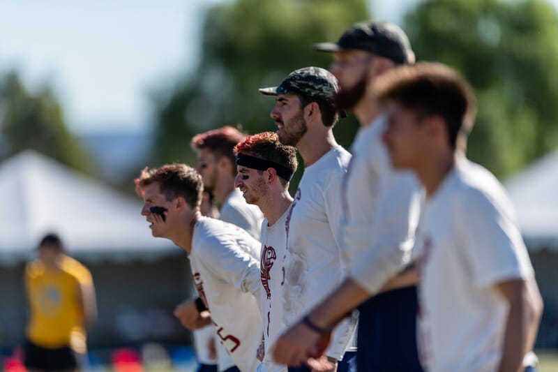 Seattle Sockeye at the 2018 Club Championships. Photo: Jeff Bell -- UltiPhotos.com