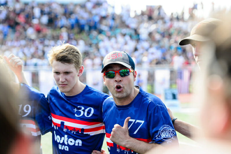 Coach Mike Mackenzie and captain Kyle Johnson will be looking to lead Wild Card back to Nationals in 2019. Photo: Kevin Leclaire -- UltiPhotos.com