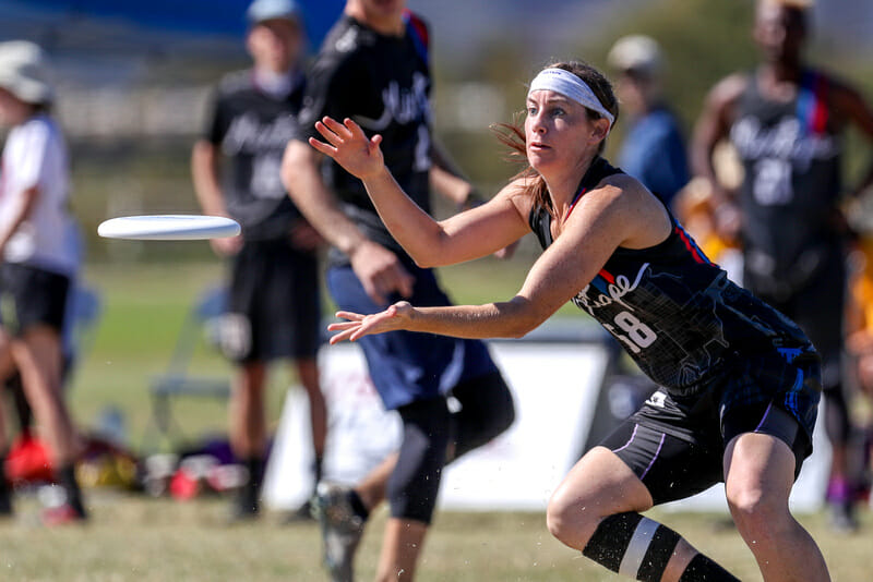 Paige Kercher is captaining Boise Lochsa in her first year on the team after coming over from Mixtape. Photo: Paul Rutherford -- UltiPhotos.com