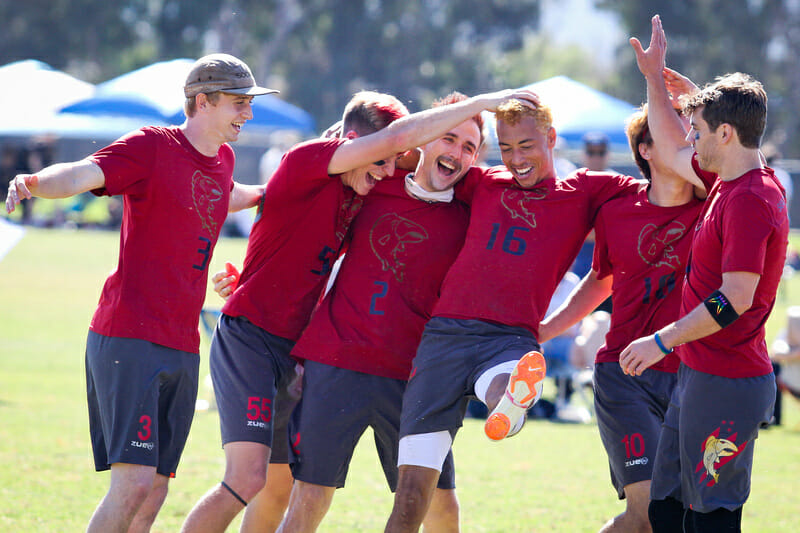 Seattle Sockeye at the 2018 USAU Club Championships. Photo: Kristina Geddert -- UltiPhotos.com