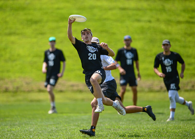 Virginia Vault at Chesapeake Open 2019. Photo: Kevin Leclaire -- UltiPhotos.com