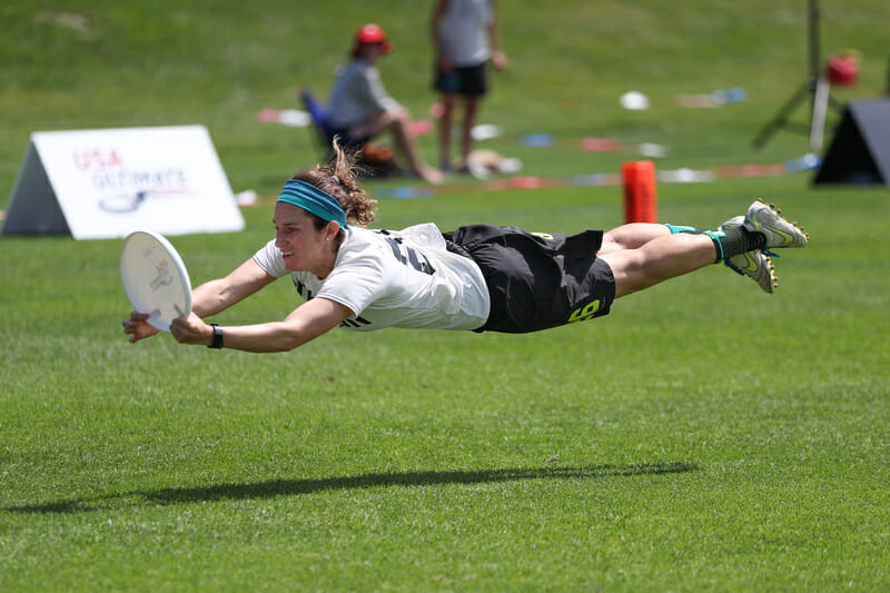 Boston Brute Squad's Elana Schwam at the 2019 US Open. Photo: Alec Zabrecky -- UltiPhotos.com