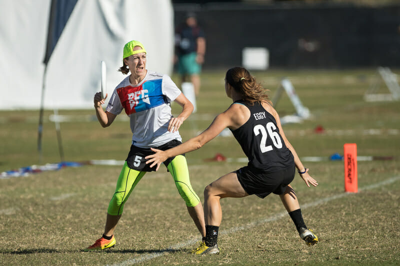 BFG's Kate Kingery at the 2018 Club Championships. Photo: Rodney Chen -- UltiPhotos.com