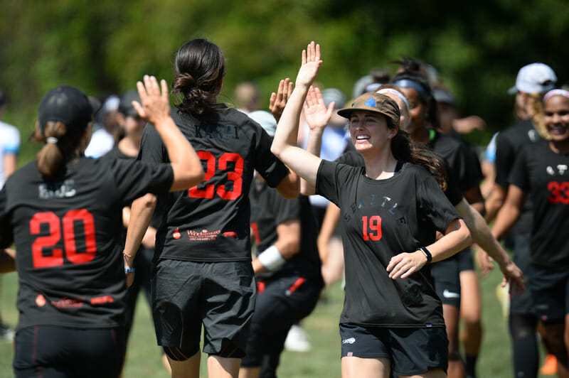 Seattle Riot at the 2019 Pro Championships. Photo: Sean Carpenter -- UltiPhotos.com