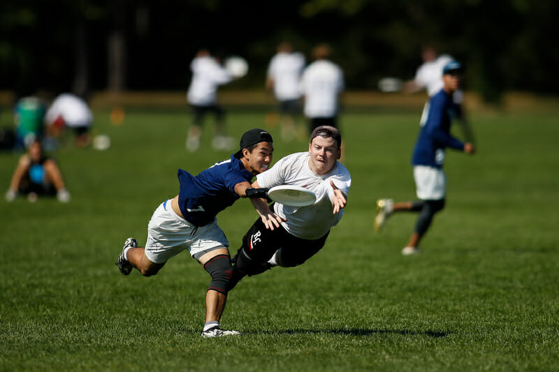 Brooklyn Blueprint vs Halifax Red Circus at 2019 Northeast Regionals. Photo: Burt Granofsky -- UltiPhotos.com