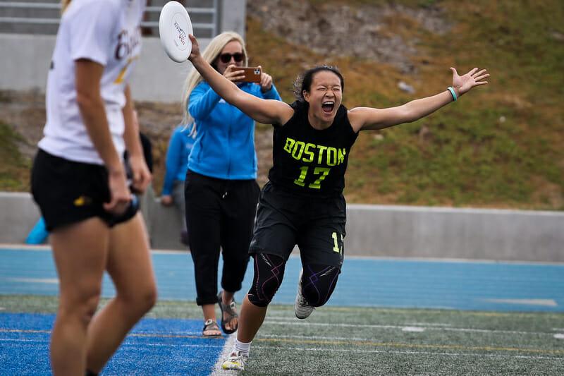Boston Brute Squad's Angela Zhu. Photo: Kristina Geddert -- UltiPhotos.com