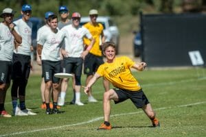 Pittsburgh Temper's Max Sheppard at the 2019 Club Championships. Photo: Rodney Chen -- UltiPhotos.com