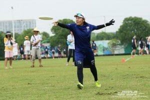 Japan's Shiori Ogawa. Photo: Japanese Flying Disc Association